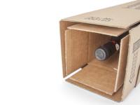 """Weinverpackung 1er Karton """"braun"""" bis 39cm Länge """"Kombiwell"""""""