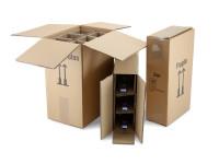 """Flaschenverpackung 3er Karton """"braun"""" bis 36cm"""