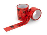 Warnband Vorsicht Glas, rot