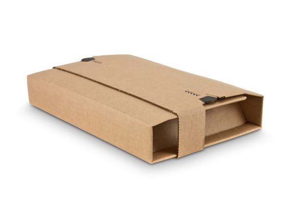 Versandverpackung mit Schutzlaschen